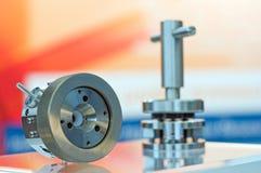 Precision scientific equipment. A view of stainless steel high tech, precision scientific equipment Stock Image