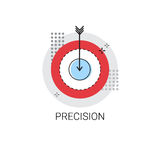 Precision Target Arrow Get Aim Business Concept Icon. Vector Illustration Stock Image