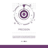 Precision Target Arrow Get Aim Business Web Banner With Copy Space Stock Photos