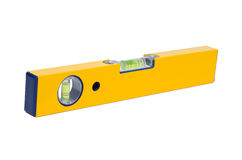 Precision tool: a yellow level Stock Images
