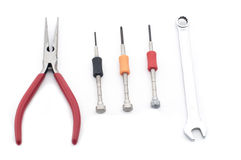 Precision tools set Stock Image