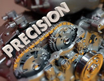 Precision Word Engine Gears Machine Exact Perfect Technology Stock Photo
