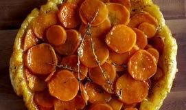 Precyzi odżywiania encyklopedia karmowy batat na zakładce zdjęcia stock