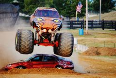 Predador do monster truck Fotografia de Stock Royalty Free