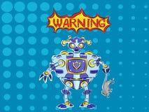 Predador travado robô do pop art Imagens de Stock Royalty Free