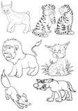 Predadores Ilustração do Vetor