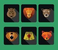 Predator animals icons. Stock Image