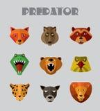 Predator animals icons. Stock Images