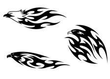 Predator birds tattoos Royalty Free Stock Image