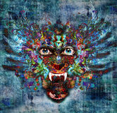 Predator. Bright colors background with predator Royalty Free Stock Images