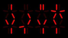 Predator countdown, digital clock and alien numbers. Predator countdown, digital clock with alien numbers Stock Photos