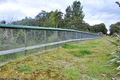 Predator fence at the Bois Gentil Kiwi Crèche, New Zeland. Greymouth, South Island, New Zealand, November 22, 2016: Predator fence at the Bois Gentil Kiwi Cr stock photo