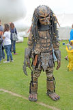 The Predator. This photo shows the Predator, a character from the famous Dr Who series, this character was on hand to help raise funds and to entertain the Royalty Free Stock Images