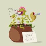 Predator Plants with Bad Habits Stock Photos