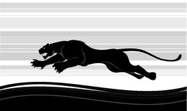 Predator run. Vector illustration can be scale to any size Stock Photography