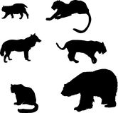 Predator silhouettes set Stock Photography