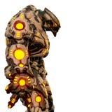 Predatore dal deserto e robot d'ardore giallo in un fondo bianco illustrazione di stock
