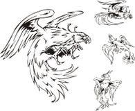Predatory Bird Tattoos Royalty Free Stock Photo