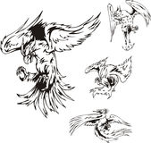 Predatory Bird Tattoos Royalty Free Stock Images