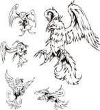 Predatory Bird Tattoos Stock Image