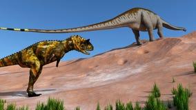 Predatory dinosaur Royalty Free Stock Photos