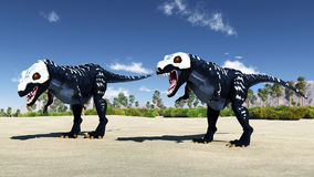 Predatory dinosaur Stock Photos