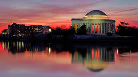 Predawn Cherry blossoms at Washington DC Tidal Basin Royalty Free Stock Image