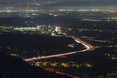 Predawn Los Angeles 118 Freeway Traffic Stock Photography