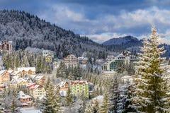 Predeal, Румыния - 14-ое марта: Панорамный взгляд 14-ого марта 2016 внутри Стоковое Фото