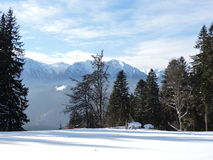 Predeal Clabucet. Walking on the mountains in a winter day Royalty Free Stock Images
