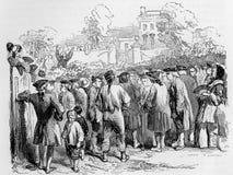 Predicación de John Wesley ilustración del vector