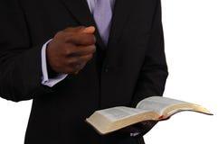 Predicación del pastor foto de archivo libre de regalías