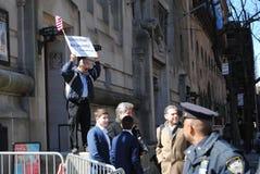 Predicador de la calle, eternidad, NYC, NY, los E.E.U.U. fotos de archivo libres de regalías