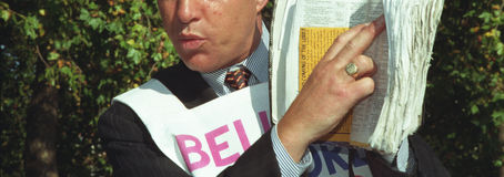 Predicatore o profet con la bibbia Immagini Stock