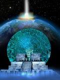 Predicciones aztecas Imagen de archivo libre de regalías