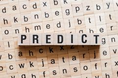 Predict word concept royalty free stock photography