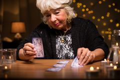 Predicting future from cards Royalty Free Stock Photo