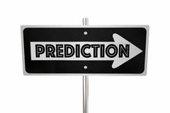 Prediction One Way Sign Look Ahead Forward Royalty Free Stock Photography