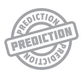 Prediction rubber stamp Stock Photo