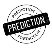 Prediction rubber stamp Royalty Free Stock Photography