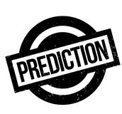 Prediction rubber stamp Stock Image