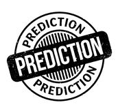 Prediction rubber stamp Royalty Free Stock Photos