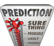 Prediction Thermometer Sure Thing Possible Probable Likely Outco Stock Photo