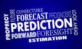 Prediction Words Future Look Ahead Forecast Royalty Free Stock Image
