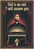 Prediger-, Heiligkeits-und Sinfulness-Vektor-Illustration lizenzfreies stockbild
