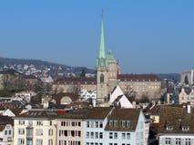 Predigerkirche. View on Predigerkirche (Preacher's Church) in Zurich Stock Images