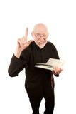 Predikant die vurige preek geeft Royalty-vrije Stock Afbeeldingen