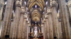 Predikstol för Duomomilan domkyrka Arkivfoton
