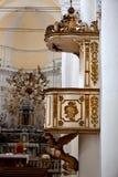 PredikstolDuomo, Noto, Sicilien, Italien Royaltyfri Fotografi