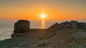 Predikstolen vaggar, ön av Portland, den Jurassic kusten, Dorset, UK Royaltyfri Fotografi